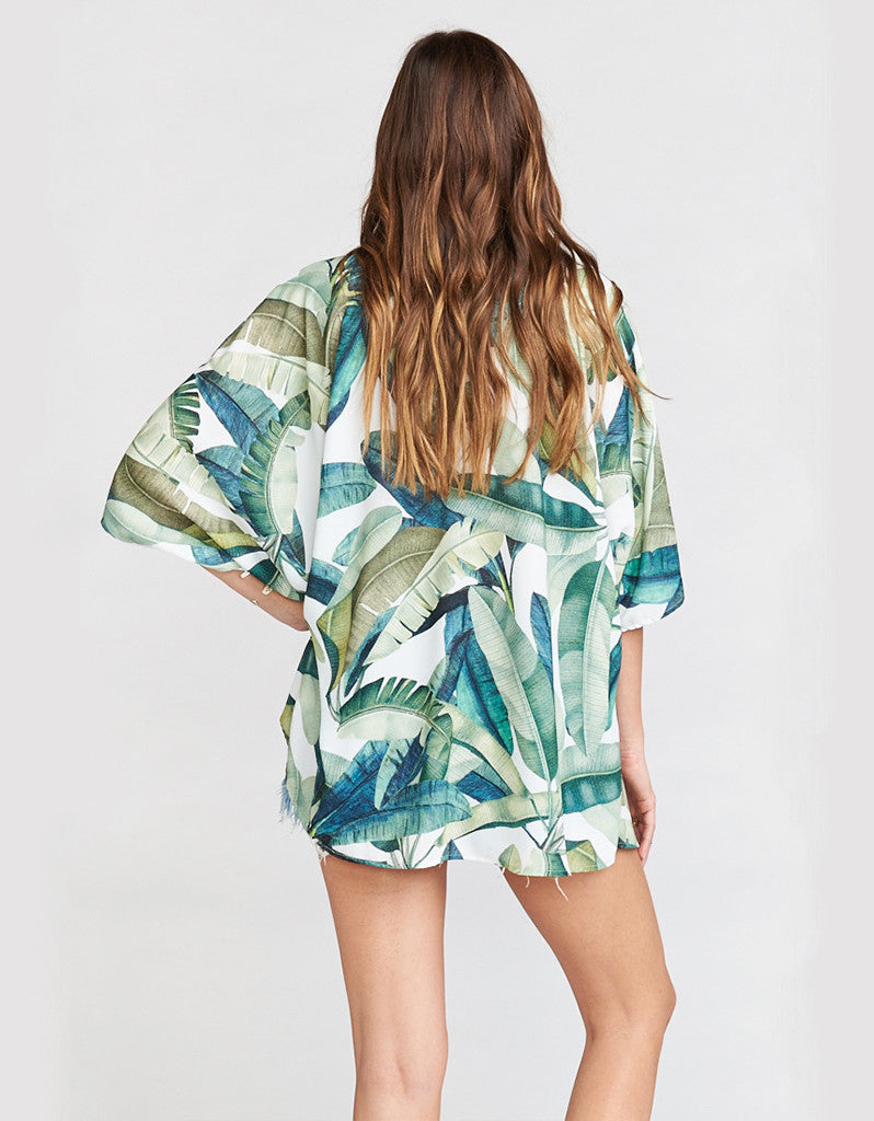 Show Me Your Mumu Shook Tunic in Banana Leaf
