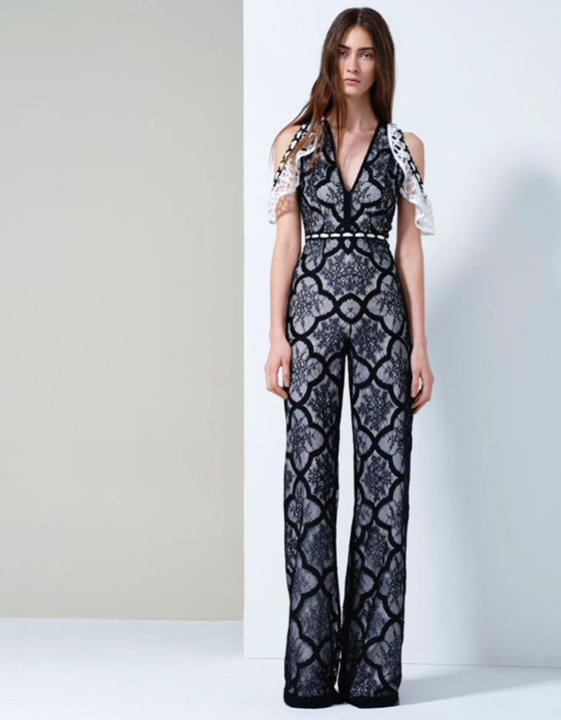 Alexis Marella Jumpsuit in Black/White - SWANK - Jumpsuits - 3