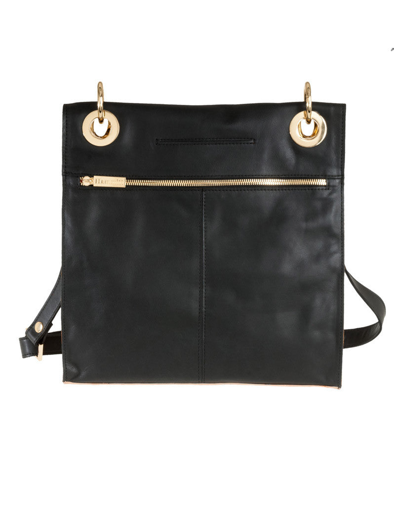 Hammitt Mark Bag in Black Out/Court Leather with Gold Hardware - SWANK - Handbags - 2