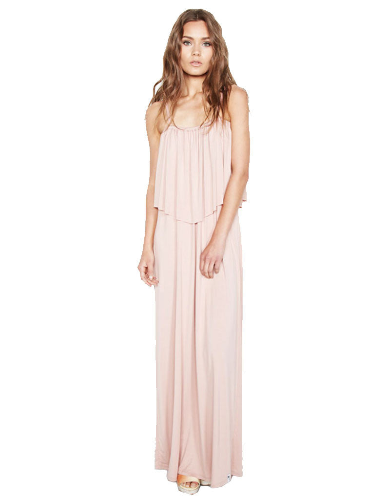 Michael Lauren Matador 2 Tier Maxi Dress - SWANK - Dresses - 1