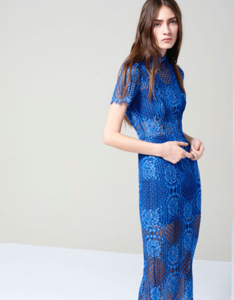 Alexis Miller Dress in Passionate Blue - SWANK - Dresses - 1