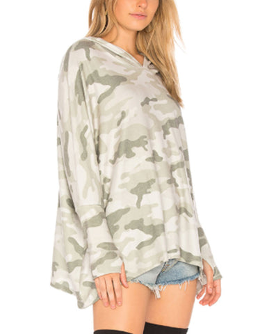 Michael Lauren Dash Hoodie in Green Camo