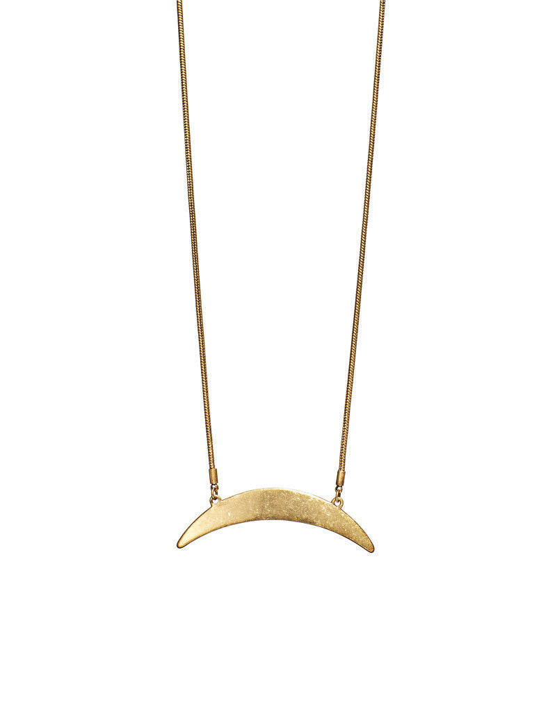 Jenny Bird Crescent Moon Necklace in Gold - SWANK - Jewelry - 3