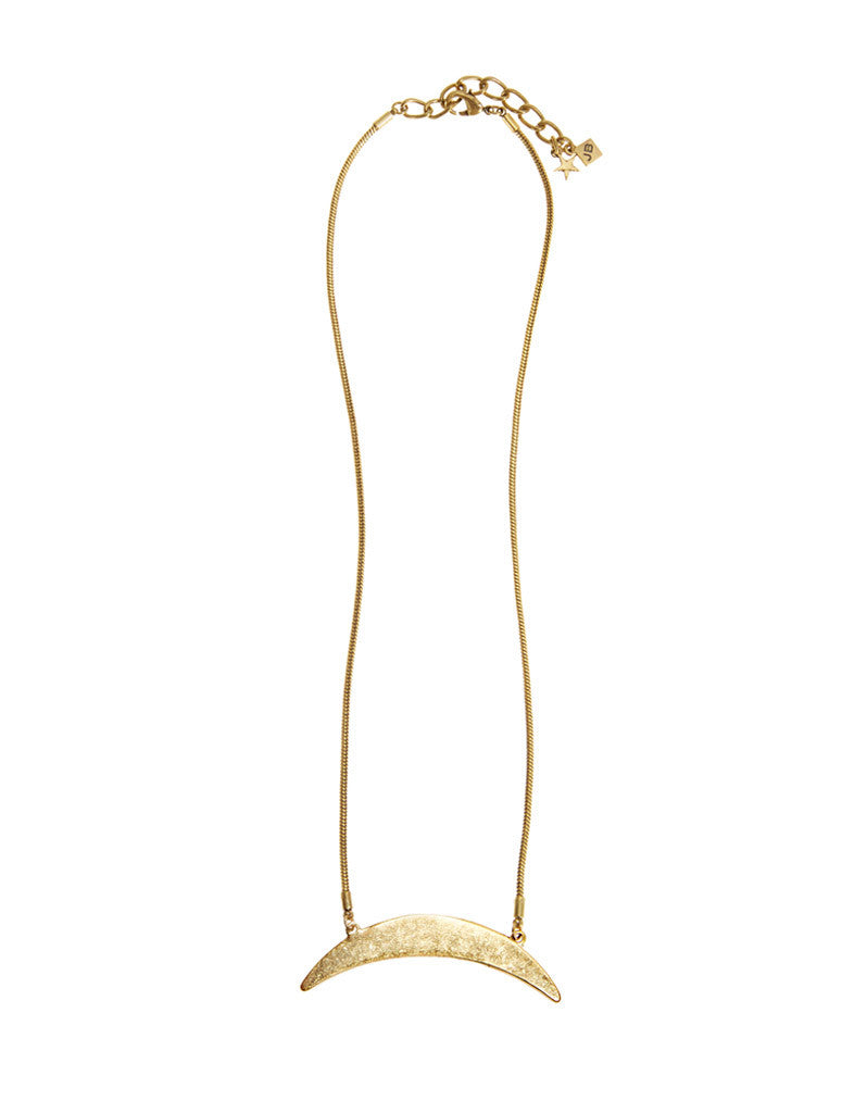 Jenny Bird Crescent Moon Necklace in Gold - SWANK - Jewelry - 1