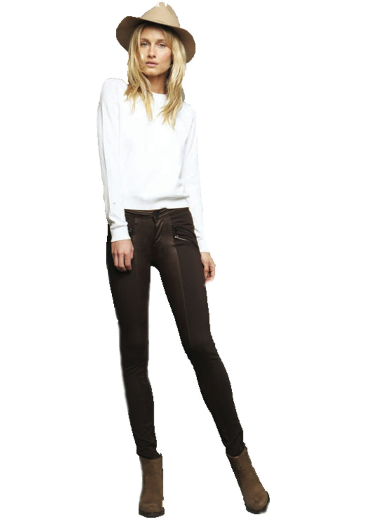 Black Orchid Jude Mid Rise Super Skinny Zipper Moto Legging **Available in 2 Washes** - SWANK - Pants - 1