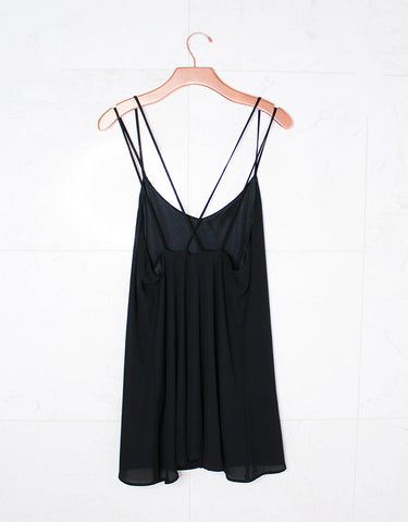 Show Me Your Mumu Criss Cross Applesauce Dress in Black Crisp