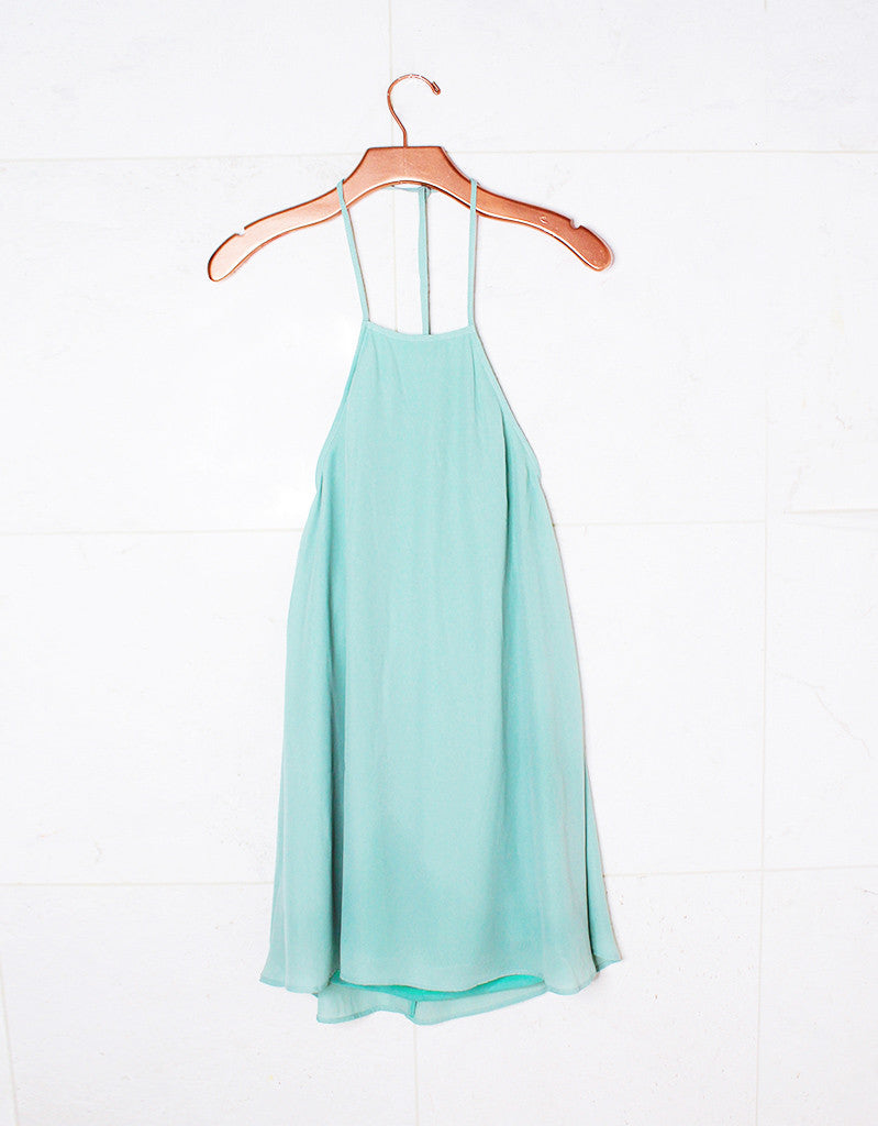 Show Me Your Mumu Katy Halter Dress in Sea Mist Crisp - SWANK - Dresses - 1