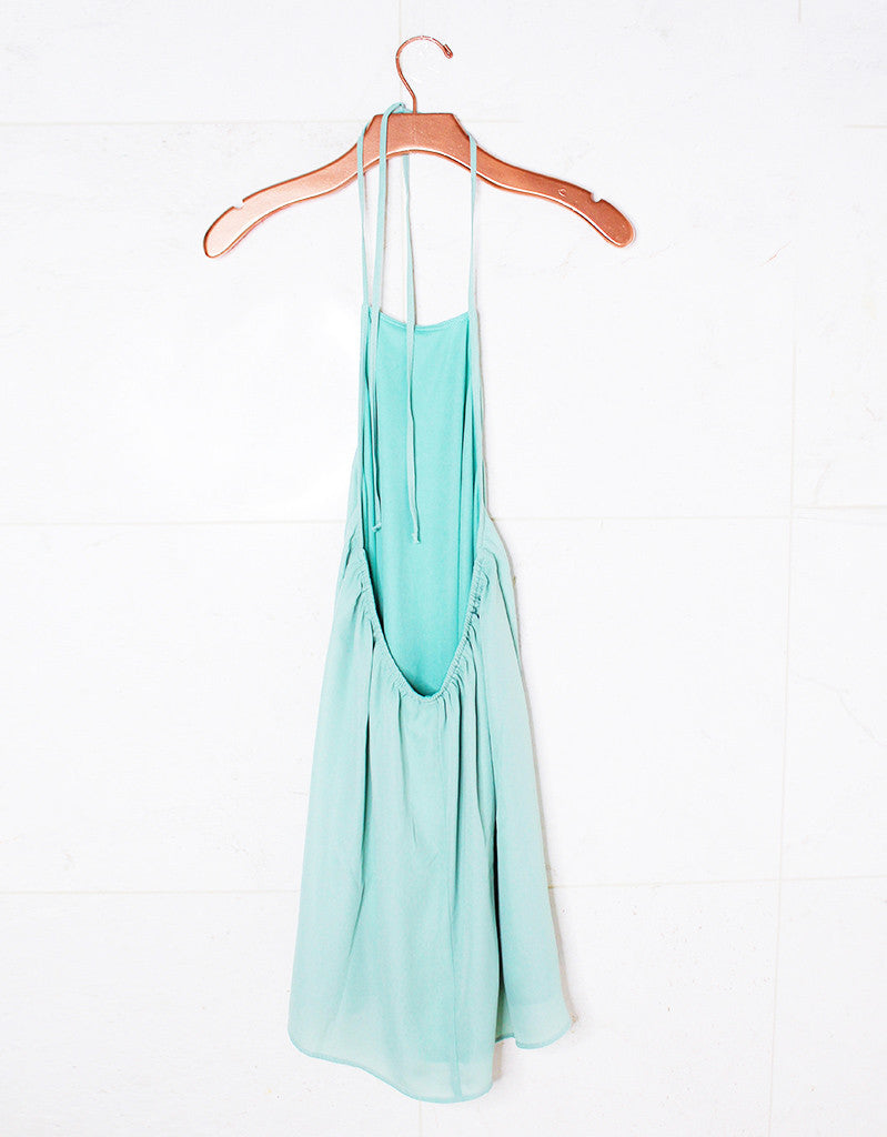 Show Me Your Mumu Katy Halter Dress in Sea Mist Crisp - SWANK - Dresses - 3