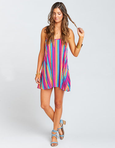 Show Me Your Mumu Bella Dress in Stripe Up Your Life