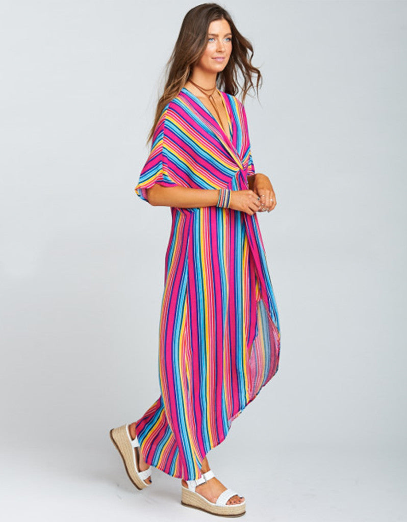 Show Me Your Mumu Get Twisted Maxi in Stripe Up Your Life