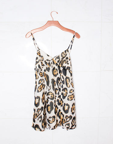 Show Me Your Mumu Winona Strappy Dress in Late Night Leopard