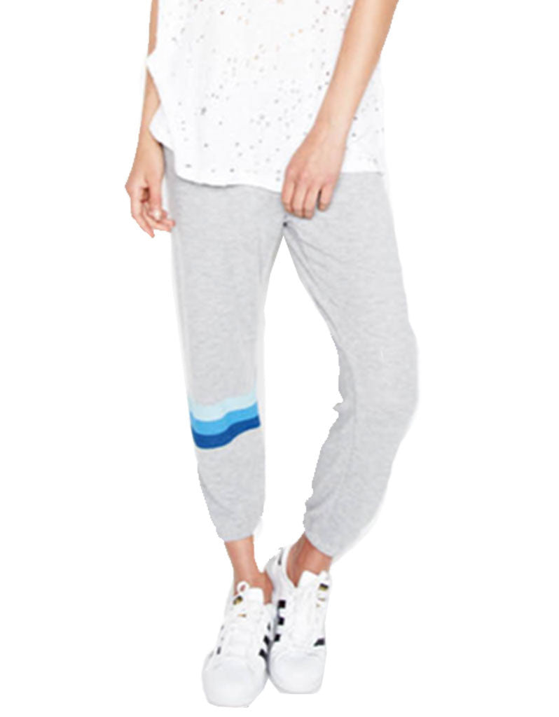 Michael Lauren Nate Crop Sweatpant in Heather Grey - SWANK - Pants - 2