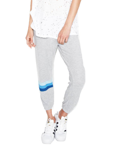 Michael Lauren Nate Crop Sweatpant in Heather Grey