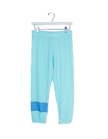 Michael Lauren Nate Crop Sweatpant in Mint
