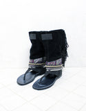 Custom Made Boho Native Soul Sandals in Black