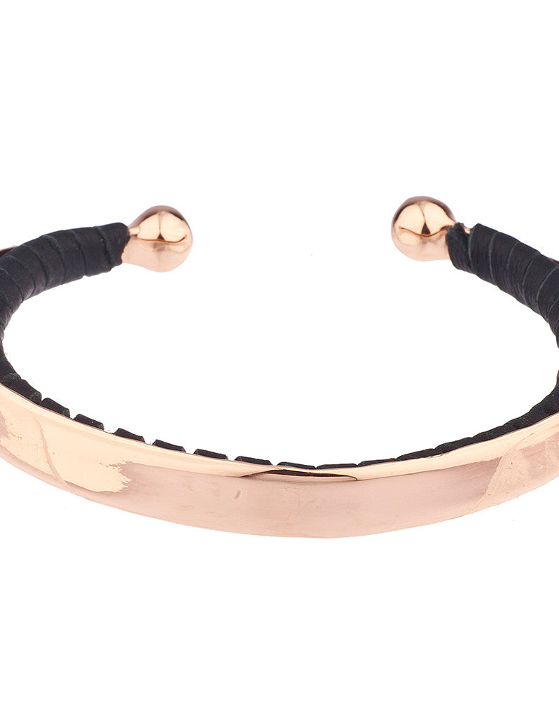 Shashi Nicky Cuff in Rose Gold/Black