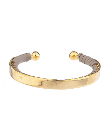 Shashi Nicky Cuff in Gold/Grey