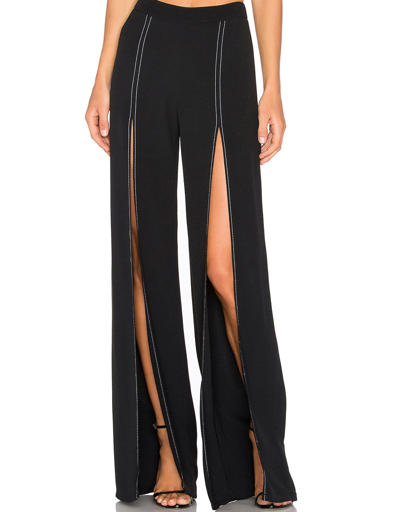 Alexis Oliviera Slit Pant in Black - SWANK - Pants - 2