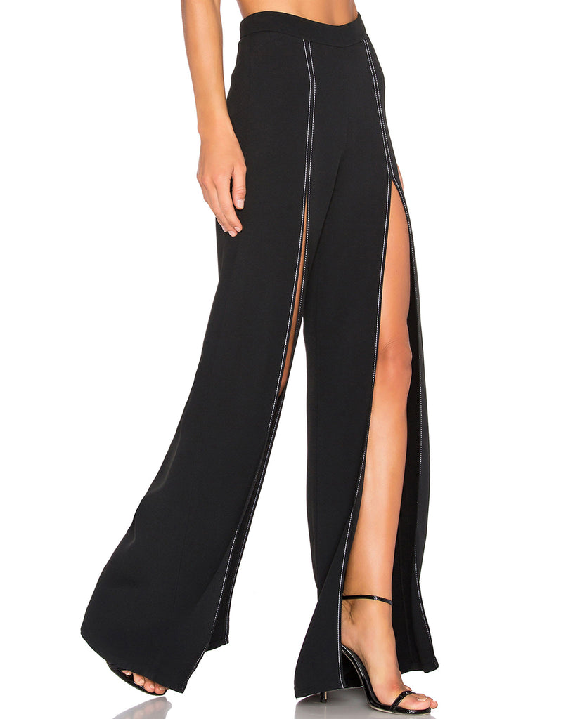 Alexis Oliviera Slit Pant in Black - SWANK - Pants - 4