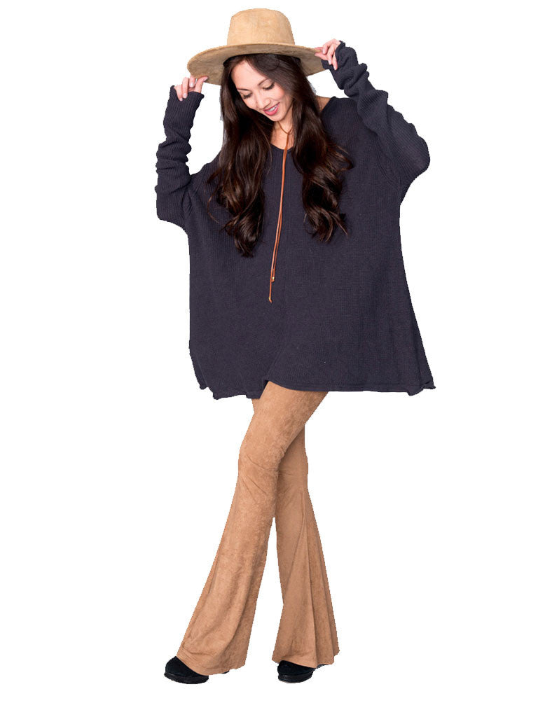 Show Me Your Mumu Overtop Sweater in Deep Charcoal - SWANK - Tops - 1