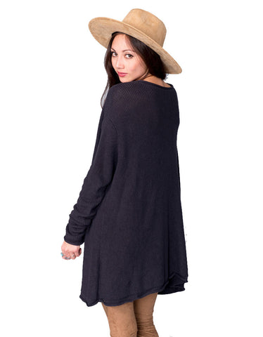 Show Me Your Mumu Overtop Sweater in Deep Charcoal