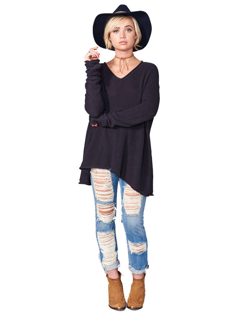 Show Me Your Mumu Overtop Sweater in Deep Charcoal - SWANK - Tops - 3