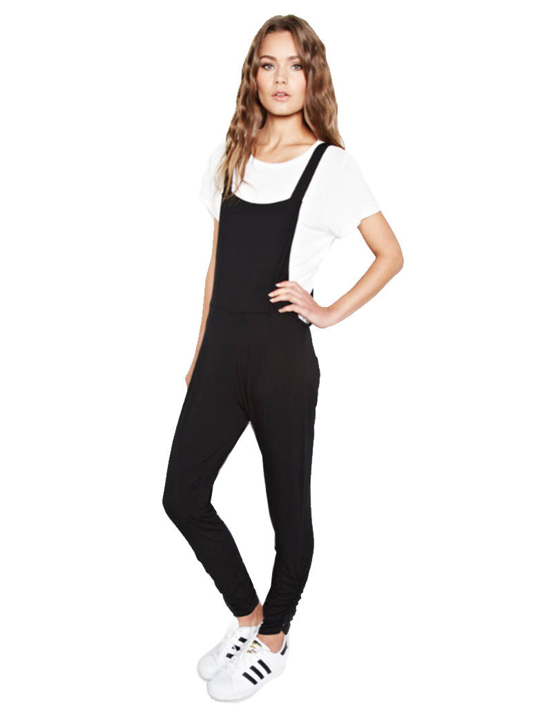 Michael Lauren Paco Overall Pants in Black - SWANK - Pants - 1