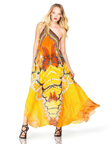 Parides Avatar 3-Way Style Dress in Papaya