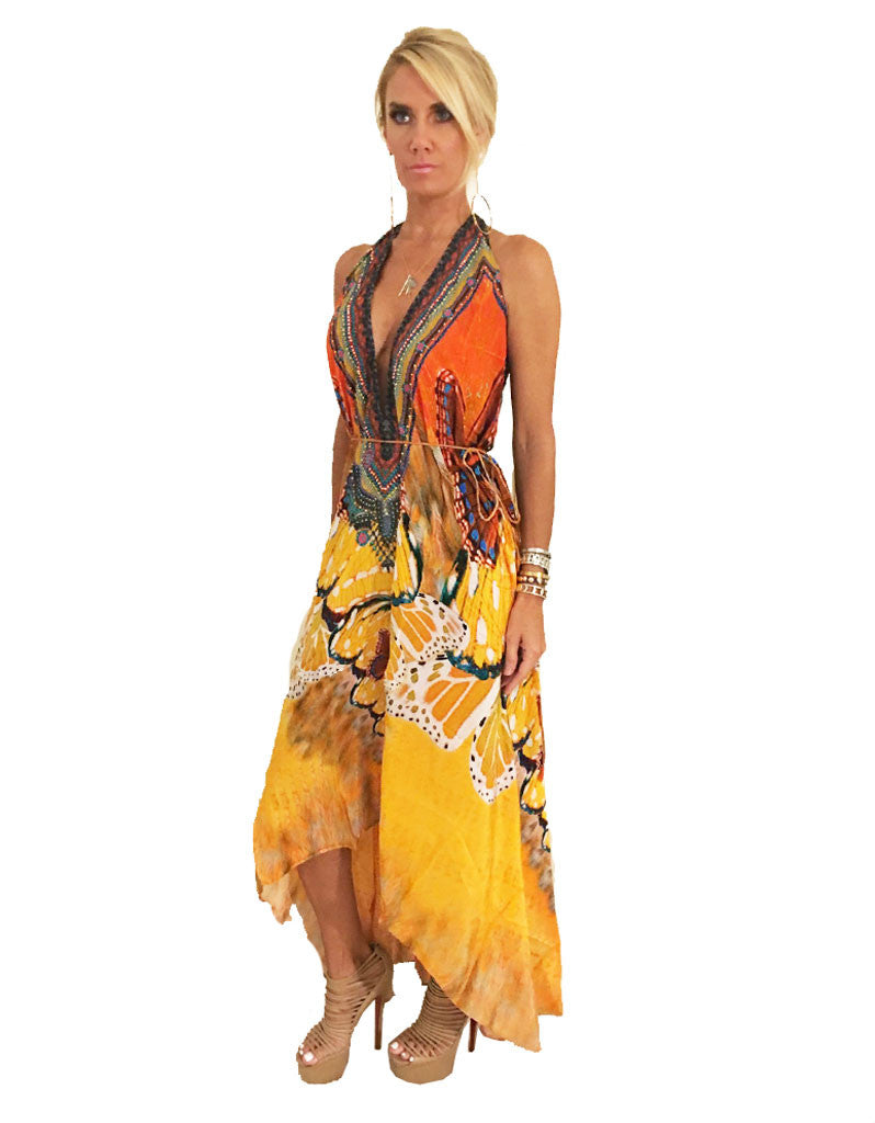 Parides Avatar 3-Way Style Dress in Papaya - SWANK - Dresses - 2