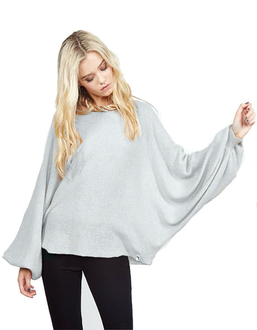 Michael Lauren Paxten Oversized Draped Cashmere Sweater