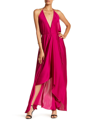 Shahida Parides 3 Way Style Long Dress in Bright Fuchsia