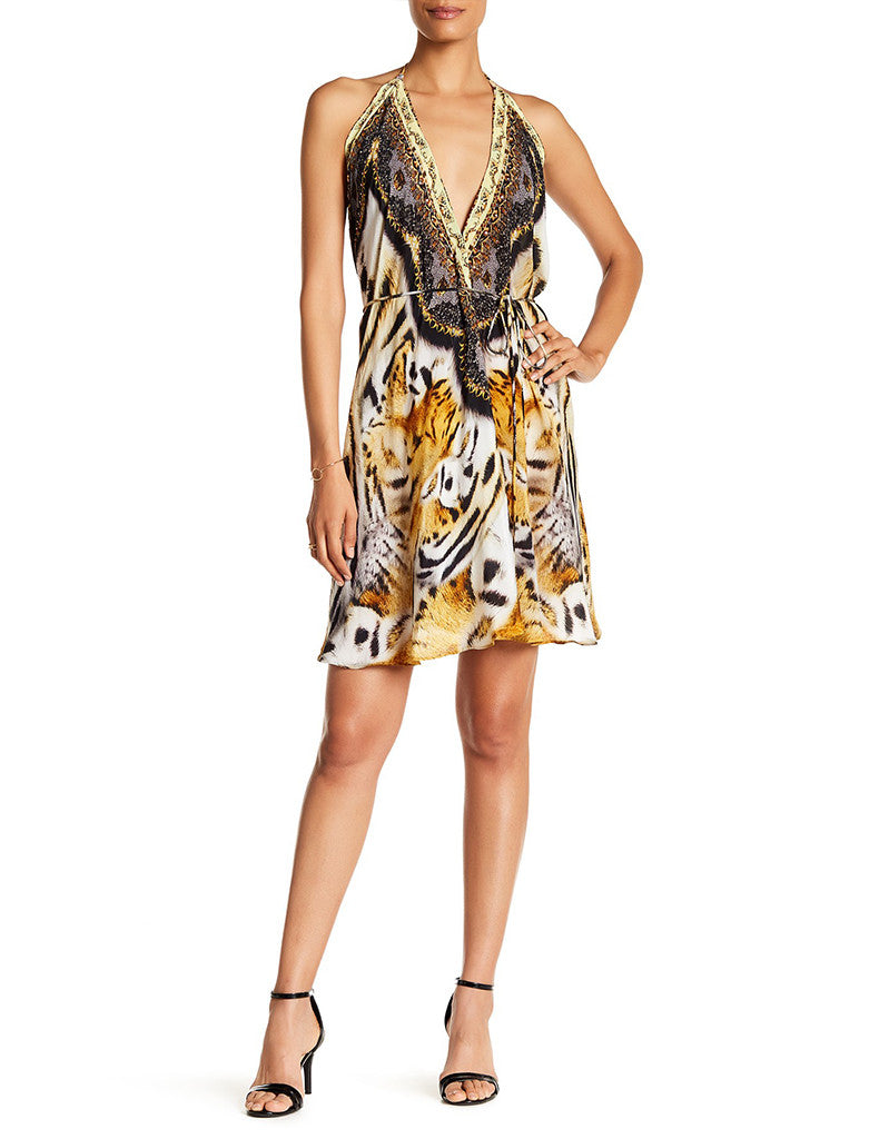 Shahida Parides Bengal Tiger 3 Way Style Short Dress