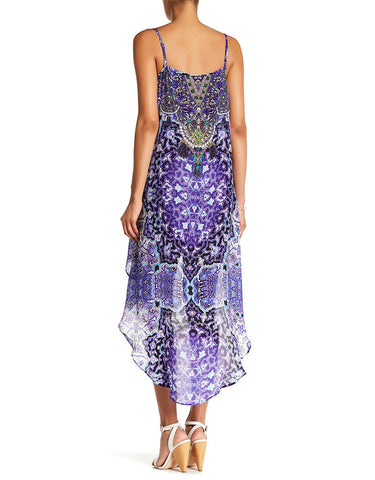 Shahida Parides Cami High Low Dress in Purple Rain