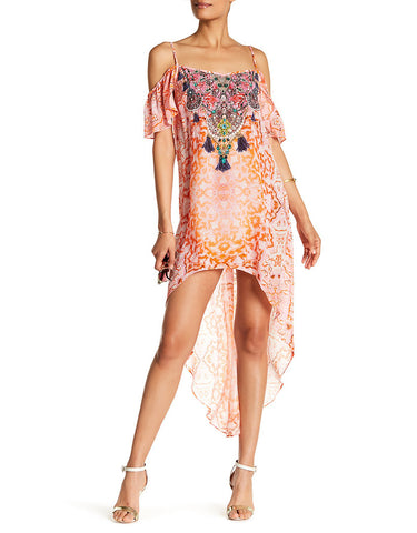 Shahida Parides Embellished High Low Dress in Sunset