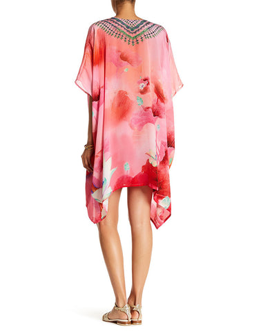 Shahida Parides Lotus 4 Way Style Medium Kaftan in Flamingo