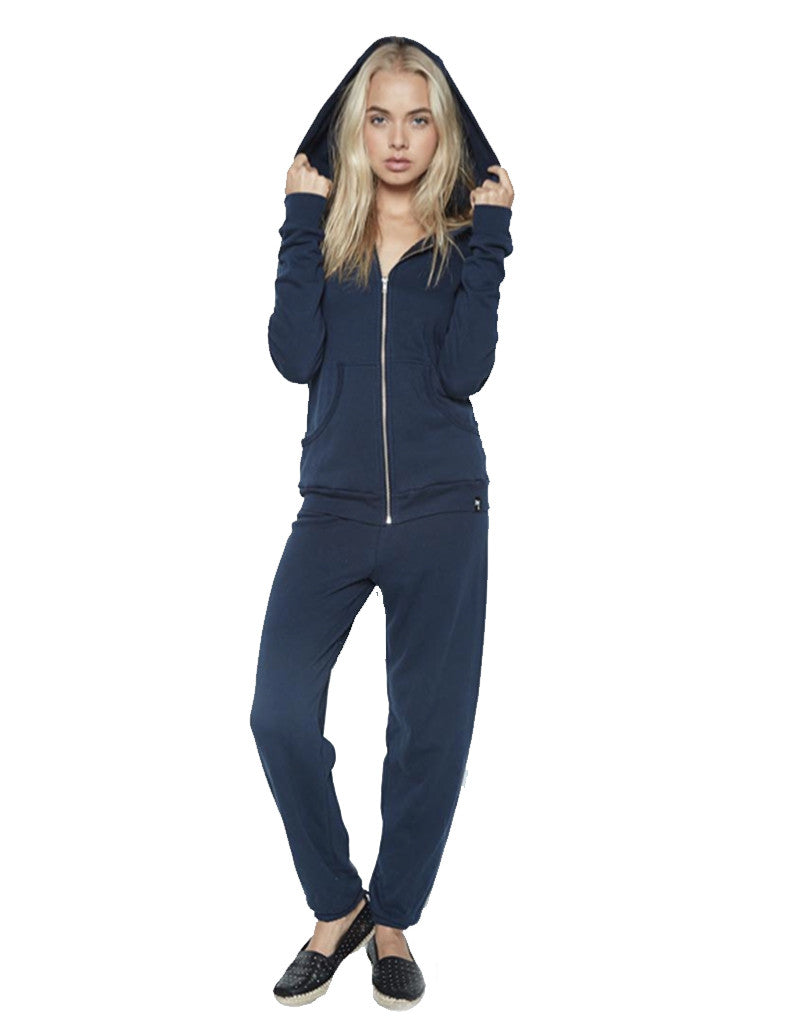 Michael Lauren Paris Zip Up Hoodie in Dark Navy Storm - SWANK - Outerwear - 1