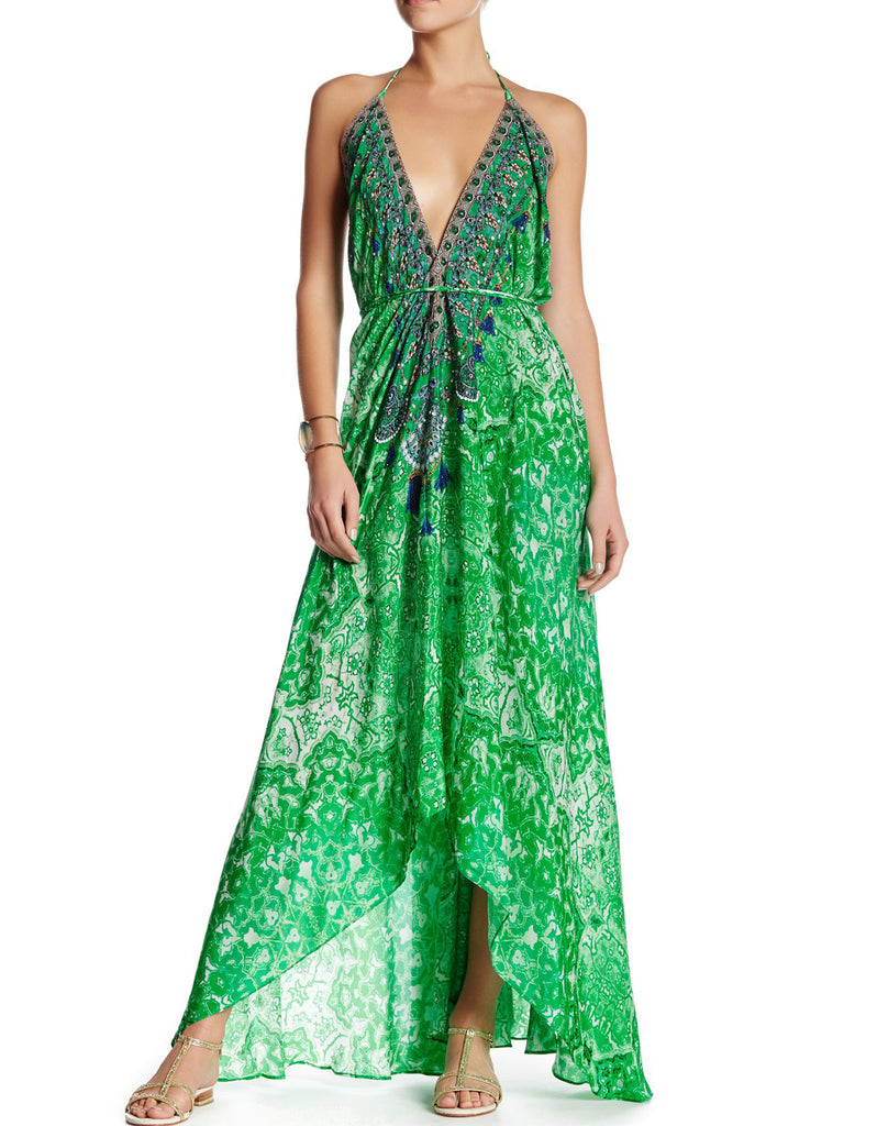 Shahida Parides Persian Princess 3-Way Style Dress in Green - SWANK - Dresses - 1