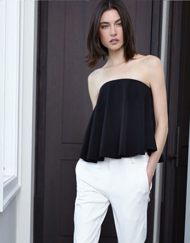 Alexis Cristea Silk Top in White