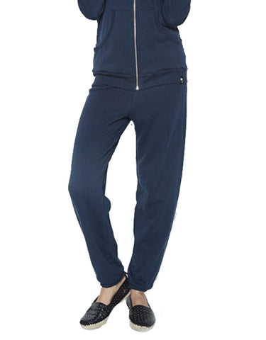 Michael Lauren Plato Sweatpant in Dark Navy Storm
