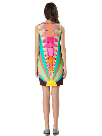 Mara Hoffman Ponte Shift Dress in Beams Yellow