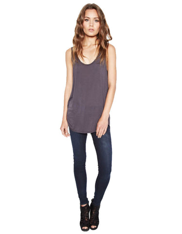 Michael Lauren Ray Tank in Coal and Black