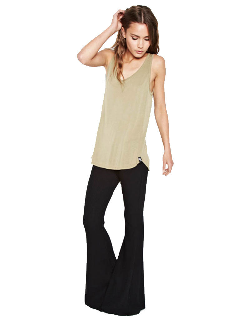 Michael Lauren Ray Tank in Olive Ash - SWANK - Tops - 1