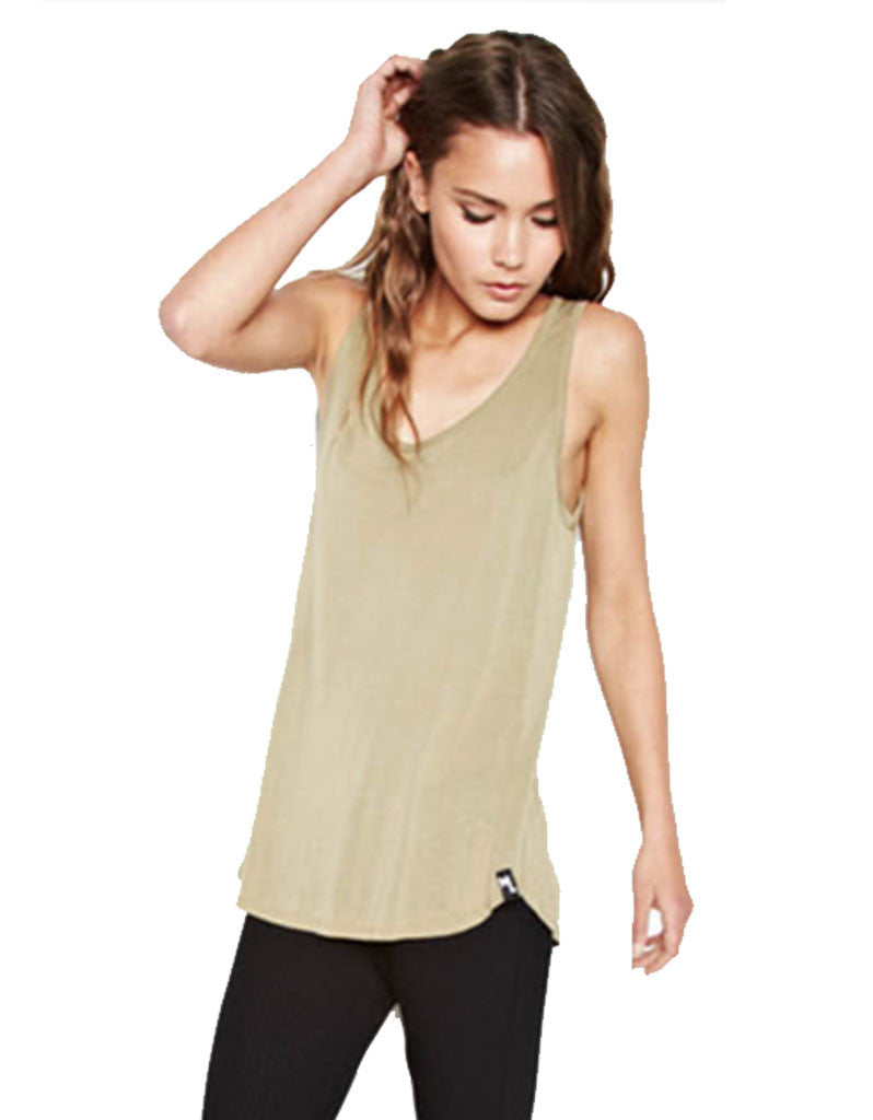 Michael Lauren Ray Tank in Olive Ash - SWANK - Tops - 2