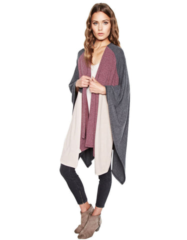 Michael Lauren Reeves Colorblock Blanket Wrap