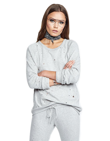 Michael Lauren Renzo Pullover in Heather Grey