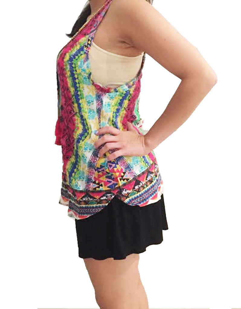 Rococo Sand Mexico Print Tank Top - SWANK - Tops - 3