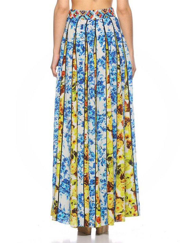 Rococo Sand Romantic Florals Maxi Skirt - SWANK - Skirts - 4