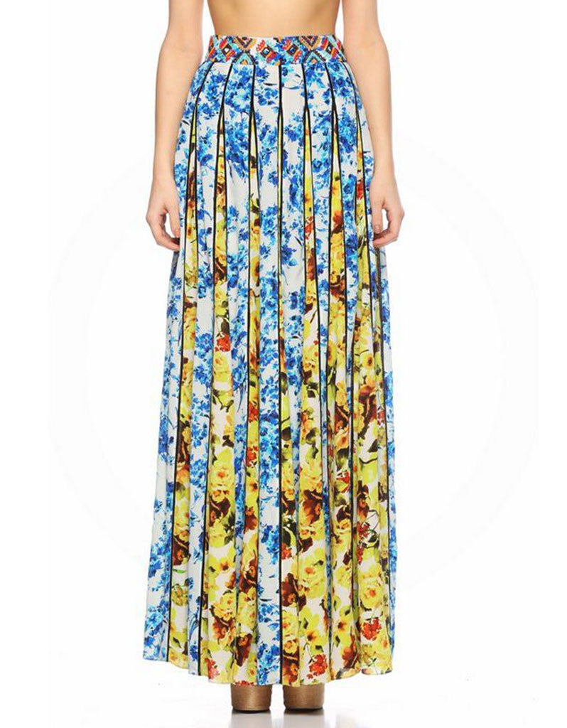 6e1ba9789a3 Rococo Sand Romantic Florals Maxi Skirt - SWANK - Skirts - 1 ...