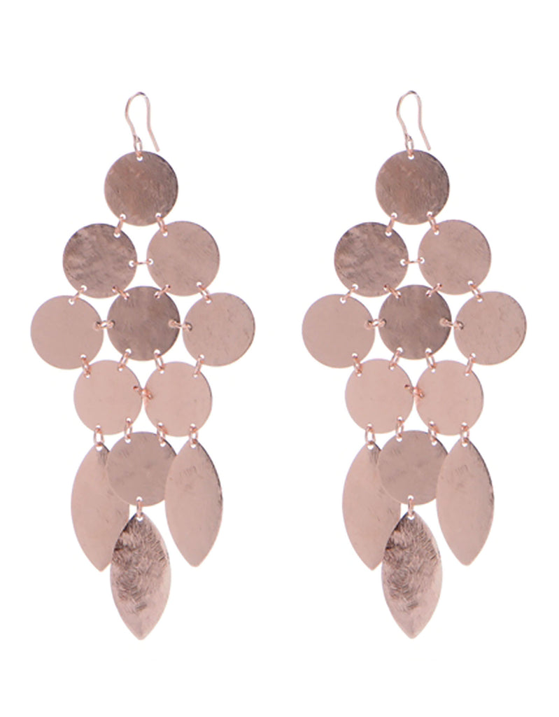 Chandelier Earrings in Rose Gold - SWANK - Jewelry - 1