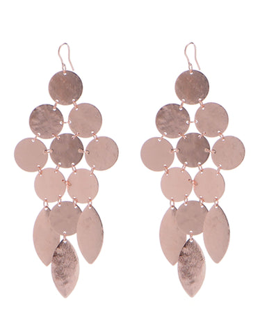 Jenny Bird Zenith Earrings in Rose Gold